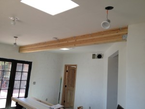 Existing beam through guest house