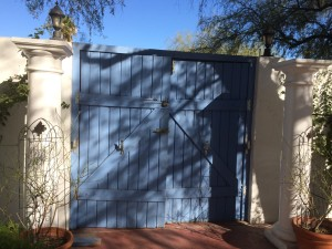 Existing Wood Gate in need of repair