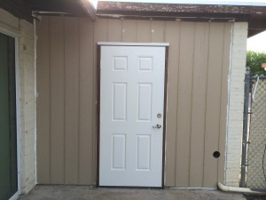 Completed Door and Siding