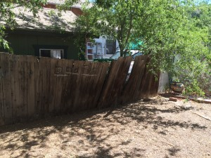 Existing Wood Fence in need of repair