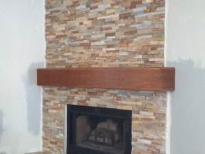 With new cherry mantel